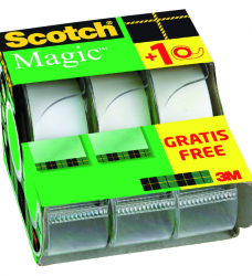 photo of Plakband Scotch Magic 810 19mmx7.5m onzichtbaar mat 2+1 gratis + afroller