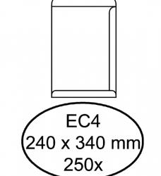 photo of Envelop Hermes akte EC4 240x340mm zelfklevend wit 250stuks