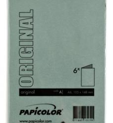 photo of Correspondentiekaart Papicolor dubbel 105x148mm Dennengroen