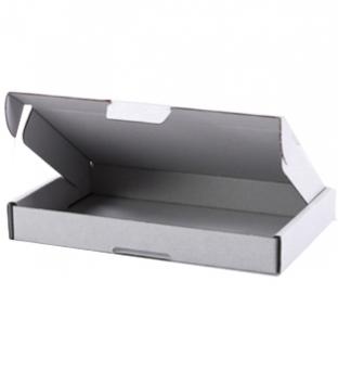 Brievenbus doos 36cm x 25.5cm x 2.7cm wit golfkarton Product image