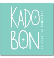 photo of Kadobon  turquoise met strook genummerd
