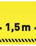 photo of Vloersticker OPUS 2 40x15cm geel/zwart