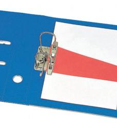 photo of Scheidingsstrook Esselte trapezium 235x105/55mm blauw