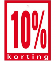 photo of Prijskaart 10% korting 6cm x 8cm