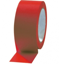 photo of PVC tape 50mm x 66m rood onbedrukt