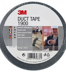 photo of Plakband 3M 1900 Duct Tape 50mmx50m zwart