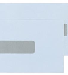 photo of Envelop Quantore 109x224mm venster 2,5x11mm midden 500stuks