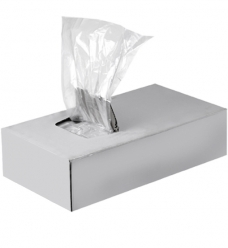 photo of Plastic zak ldpe met zijvouw 18cm x 8 x 35cm 20µm ongeperforeerd onbedrukt