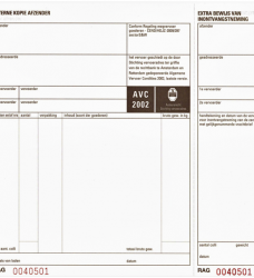 photo of Vrachtbrief Budget BVA 1562 240x200mm 4voud 100stuks