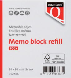 photo of Memoblaadjes Quantore losbladig 94x94x90mm 900vel