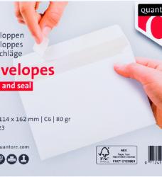 photo of Envelop Quantore bank C6 114x162mm zelfklevend wit 25stuks