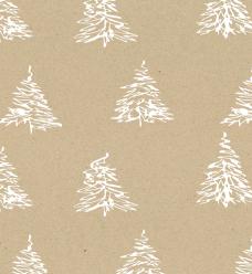 photo of Kadopapier kerst 50cm x 250m 191700/3 bruin kraft 60gr / m2