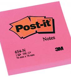 photo of Memoblok 3M Post-it 654 76x76mm neon roze