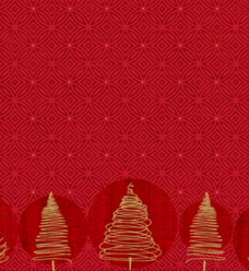 photo of Placemat duni 30cm x 40cm rood/goud elegant trees