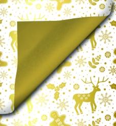 photo of Cadeaupapier kerst 30cm x 200m 90218 gecoat dubbelzijdig papier 70gr / m2