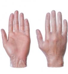 photo of Handschoenen Vinyl gepoederd S wit