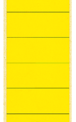 photo of Rugetiket Leitz breed/lang 62x285mm zelfklevend geel