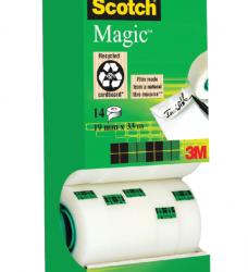 photo of Plakband Scotch Magic 810 19mmx33m onzichtbaar mat 12+2 gratis