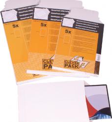photo of Envelop CleverPack A5 176x250mm karton wit 5stuks