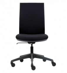 photo of Bureaustoel Euroseats Canillo gestoffeerde rug zwart