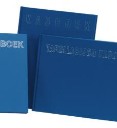 photo of Kasboek 165x210mm 192blz 2 kolommen blauw