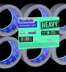 photo of Verpakkingstape Scotch Heavy 50mmx66m bruin 6 rollen