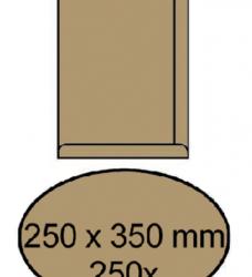 photo of Envelop akte 250x350mm zelfklevend 90gr bruin 250stuks