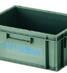 photo of Papierbak verzamelbak kunststof 40x30x17.5cm grijs