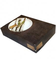 photo of Cateringdoos zonder venster 28cm x 28cm x 6cm grijs/zwart greystone