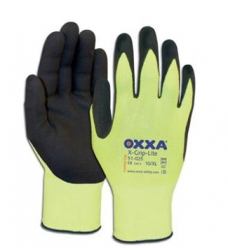 photo of Werkhandschoenen OXXA X-grip-lite nylon met latex coating 9/L geel/zwart