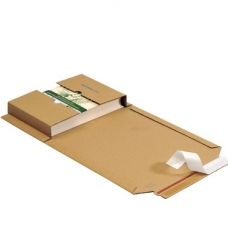 photo of Boekverzendbox met plakstrip 30.2cm x 21.5cm x 2-7.5cm bruin
