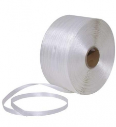 photo of Polyester omsnoeringsband 16mm x 850m  x 7.5cm  wit
