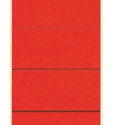 photo of Rugetiket Leitz breed/kort 62x192mm zelfklevend rood