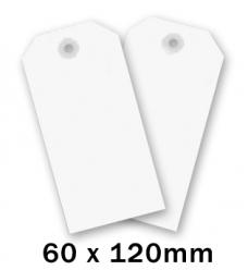 photo of Label  120mm  x 60mm wit onbedrukt Karton