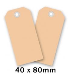 photo of Label nr 2 80mm  x 40mm chamois onbedrukt Karton