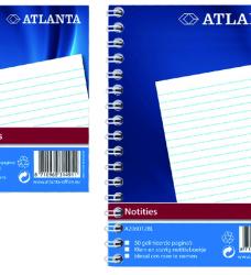 photo of Notitieboek Atlanta A7 lijn 100blz met zijspiraal