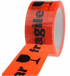 photo of PP tape 50mm x 66m oranje breekbaar