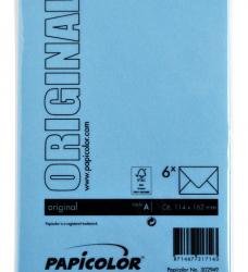 photo of Envelop Papicolor C6 114x162mm Hemelsblauw