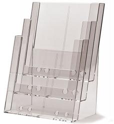 photo of Folderhouder 21cm x 29.7cm staand 3 vakken acryl