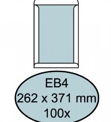 photo of Envelop Quantore bordrug EB4 262x371mm zelfkl. wit 100stuks