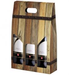photo of Draagkarton 3 fles bruin kist