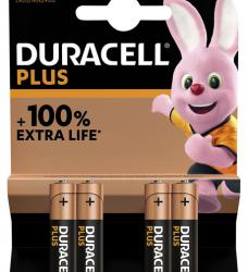 photo of Batterij Duracell Plus 4xAAA
