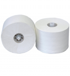 photo of Toiletpapier met dop p50610 10cm x100m 2 laags wit