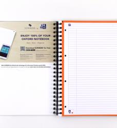 photo of Projectboek Oxford School A4+ 4-gaats lijn 120vel blauw