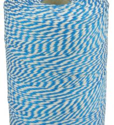 photo of Touw katoen 45meter 50gr blauw/wit