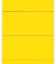 photo of Rugetiket Leitz breedkort 62x192mm zelfklevend geel