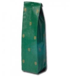 photo of Fleszak bruin kraft 10cmx 4cm  x 41cm groen gouden kroontje