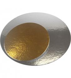 photo of Taartkarton rond  12cm metallic goud/zilver