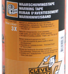 photo of Verpakkingstape CleverPack breekbaar 50mmx66m PP oranje/zwart