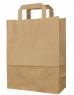 photo of Draagtas papier 22cm x 10cm x 28cm bruin onbedrukt effen bruin 70gr / m2